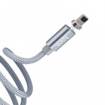 Дата кабель Hoco Magnetic U40А плетеный USB to Lightning (1m)