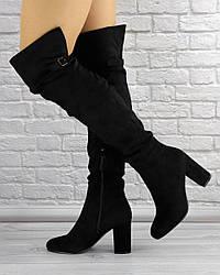 Женские ботфорты Carly черные 1276