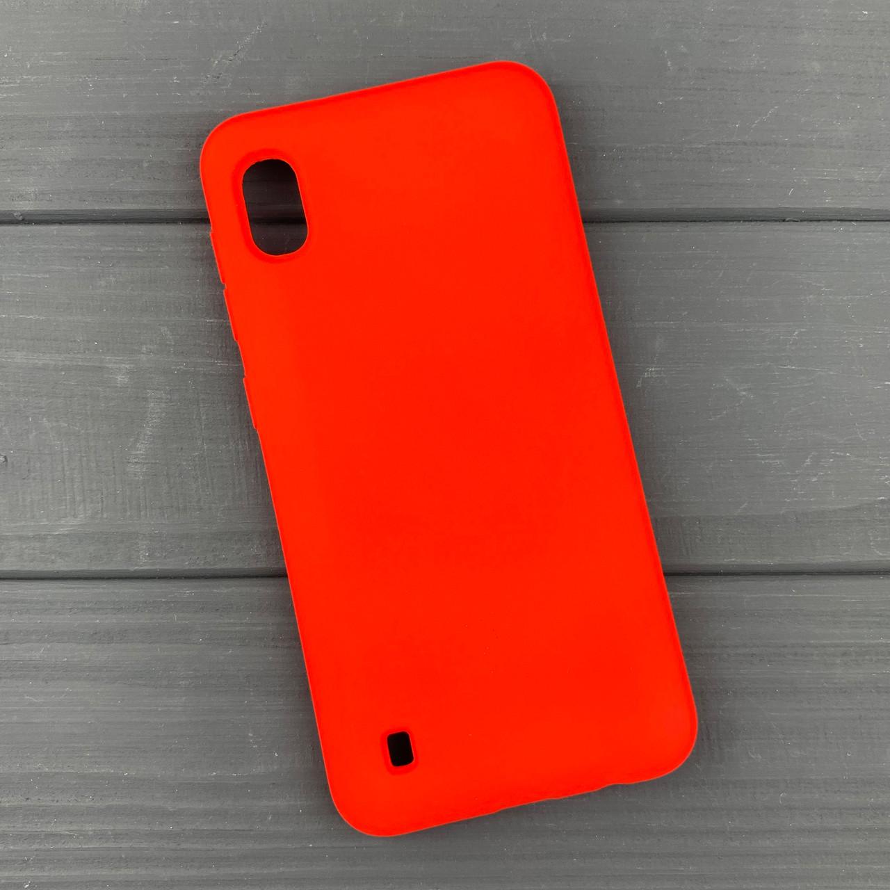 Силиконовый чехол на Samsung A10 / A105 Red