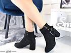 Демисезонные женские ботинки черного цвета, из эко замши 36 ПОСЛЕДНИЕ РАЗМЕРЫ, фото 5