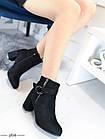 Демисезонные женские ботинки черного цвета, из эко замши 36 ПОСЛЕДНИЕ РАЗМЕРЫ, фото 7