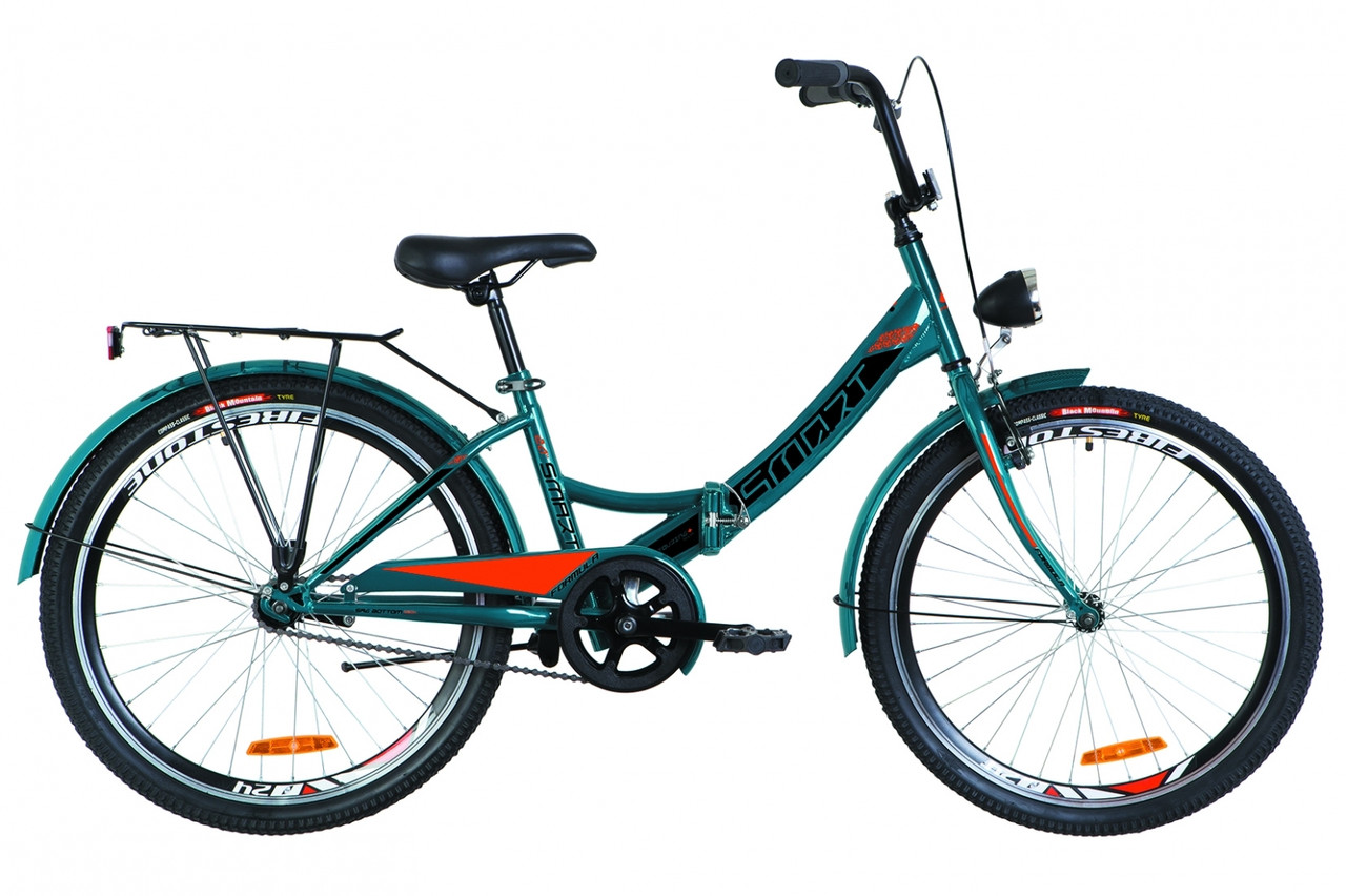 """Складаний велосипед Formula Smart 24"""" 2019 з ліхтарем"""