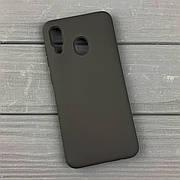Силиконовый чехол на Samsung A20 / A205 Black