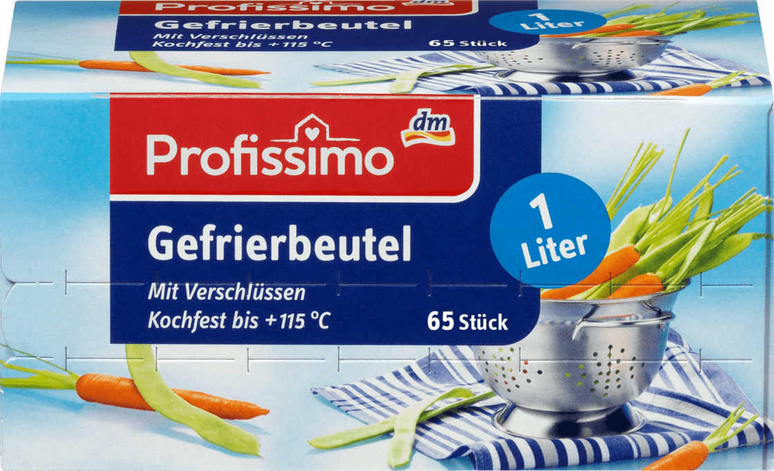 Пакет для заморозки Profissimo Gefrierbeutel 1 L, 65 шт.