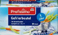 Пакет для заморозки Profissimo Gefrierbeutel 1 L, 65 шт., фото 1