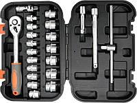 Набор инструментов Sthor 58661 с головками и трещоткой