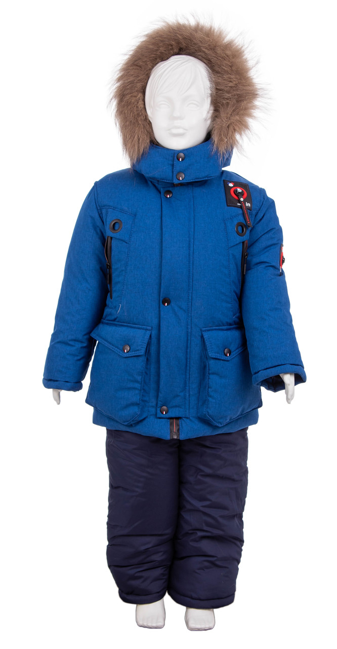 Зимний комбинезон для мальчика 22-28 джинс
