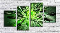 "Модульная картина на холсте ""Зеленая абстракция 2"""