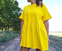 Женское платье ярко желтое приятная ткань (размеры в описании) Busem