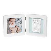 Двойная рамочка Baby Art с отпечатком белая