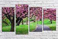 "Модульная картина на холсте ""Японский парк"""