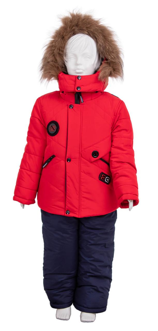 Детские зимние комбинезоны на мальчиков  22-28 красный