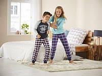 Пижамные,домашнии фланелевые штаны клетка 122\128 рост, фото 1