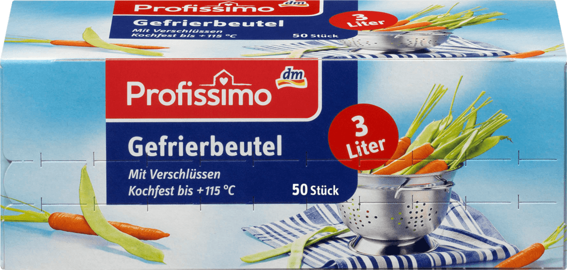 Пакет для заморозки Profissimo Gefrierbeutel 3 L, 50 шт.