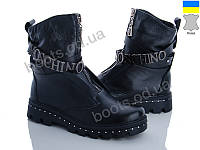 """Ботинки зимние женские """"Stella"""" #99-2. р-р 36-40. Цвет черный. Оптом"""