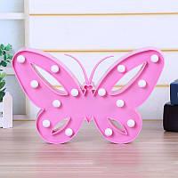 """Ночник детский """"Бабочка"""" 26см розовая"""