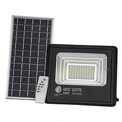 Светодиодный прожектор с солнечной панелью Tiger 60W 6400K + пульт ДУ