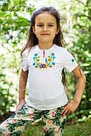 Дитяча вишиванка Квіткове асорті жовто-блакитне