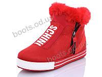 """Ботинки зимние женские """"Wei Wei"""" #Q5 red. р-р 36-41. Цвет красный. Оптом"""