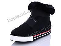 """Ботинки зимние женские """"Wei Wei"""" #Q6 black. р-р 36-41. Цвет черный. Оптом"""