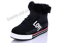 """Ботинки зимние женские """"Wei Wei"""" #Q7 black. р-р 36-41. Цвет черный. Оптом"""
