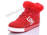 """Ботинки зимние женские """"Wei Wei"""" #Q7 red. р-р 36-41. Цвет красный. Оптом"""