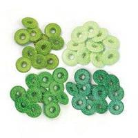 Люверсы с глиттером WRMK Glitter Green 41612-8