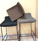 М'який стілець барний COMFY чорний Concepto, фото 6