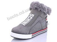 """Ботинки зимние женские """"Wei Wei"""" #Q11 grey. р-р 36-41. Цвет серый. Оптом"""