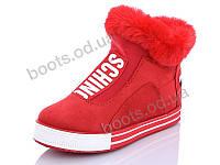"""Ботинки зимние женские """"Wei Wei"""" #Q11 red. р-р 36-41. Цвет красный. Оптом"""