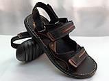 Мужские чёрные сандалии на липучках Detta, фото 3