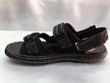 Мужские чёрные сандалии на липучках Detta, фото 4