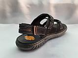 Мужские чёрные сандалии на липучках Detta, фото 8