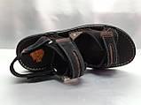 Мужские чёрные сандалии на липучках Detta, фото 6