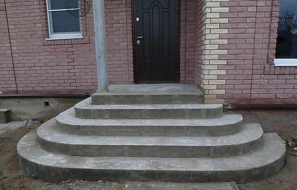 Устройство бетонной лестницы крыльцо