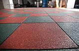 Резиновая плитка 500х500х10 мм, 10 кг/м², фото 2