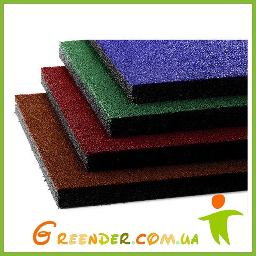Резиновая плитка 500х500х10 мм, 10 кг/м²
