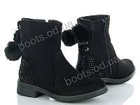 """Ботинки демисезонные женские """"Violeta"""" #9-518 BLACK. р-р 36-41. Цвет черный. Оптом"""