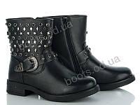 """Ботинки демисезонные женские """"Violeta"""" #9-520 BLACK. р-р 36-41. Цвет черный. Оптом"""