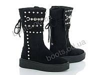 """Ботинки демисезонные женские """"Violeta"""" #20-428 BLACK. р-р 36-41. Цвет черный. Оптом"""