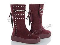 """Ботинки демисезонные женские """"Violeta"""" #20-428 WINE RED. р-р 36-41. Цвет бордовый. Оптом"""