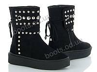 """Ботинки демисезонные женские """"Violeta"""" #20-429 BLACK. р-р 36-41. Цвет бордовый. Оптом"""