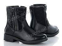 """Ботинки демисезонные женские """"Violeta"""" #9-517 BLACK. р-р 36-41. Цвет черный. Оптом"""