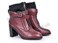 """Ботинки зимние женские """"Violeta"""" #96-1 burgundy. р-р 36-40. Цвет бордовый. Оптом"""