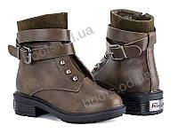 """Ботинки демисезонные детские """"Violeta"""" #207-5 army-green. р-р 31-36. Цвет хаки. Оптом"""
