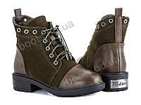 """Ботинки демисезонные детские """"Violeta"""" #207-2 army-green. р-р 31-36. Цвет хаки. Оптом"""