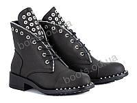 """Ботинки демисезонные женские """"Violeta"""" #94-10 black. р-р 36-41. Цвет черный. Оптом"""