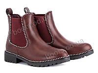 """Ботинки демисезонные женские """"Violeta"""" #94-7 red. р-р 36-41. Цвет бордовый. Оптом"""