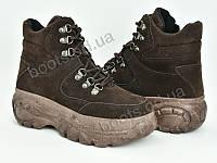 """Ботинки демисезонные женские """"Violeta"""" #80-43 brown. р-р 36-41. Цвет коричневый. Оптом"""