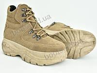 """Ботинки демисезонные женские """"Violeta"""" #80-43 khaki. р-р 36-41. Цвет бежевый. Оптом"""